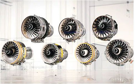 Artist's impression of Trent engine family. Image: Rolls Royce