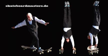 Eddie Haack, der Künstler bei den Skateboardmasters.