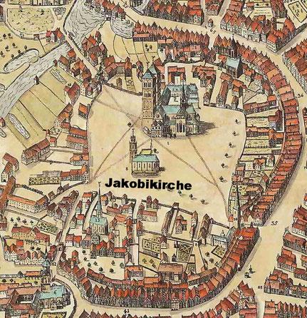 Aussschnitt Alerdinck-Plan 1636