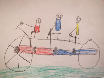 Elmar Schenkel im gelben Trikot ist der König der Radfahrer / Bild: Otto (rotes Trikot)