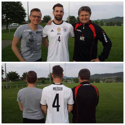 +++ Felix umringt von seinen spendablen Trainern Mirko und Wolfe +++