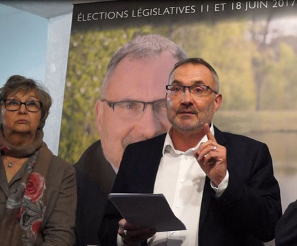 De gauche à droite : Marie-Claude Lainé (suppléante) et Dominique Moyse.