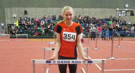 Lara Hochdörffer war beim Hallensportfest der Sporthochschule in Köln am Start.