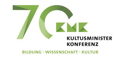 Das KMK-Feierlogo. Quelle: Screenshot der KMK-Website