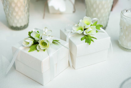 Gastgeschenk Schachteln zur Hochzeit in natur