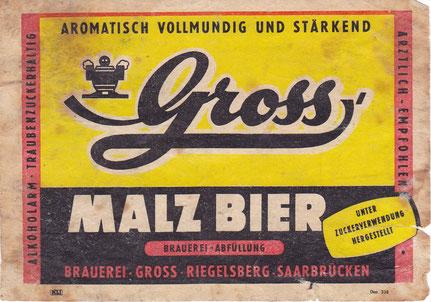 Gross Malzbier Riegelsberg Brauerei