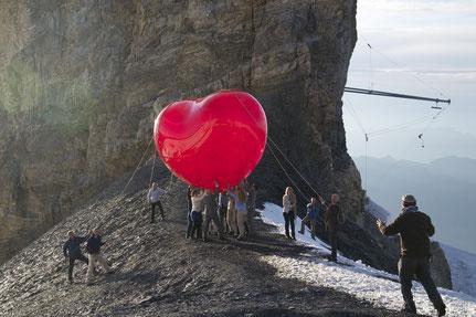 Aufblasbares Herz für Swisscom Werbespot