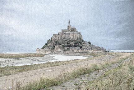 Der Weg nach Saint Michel wurde inzwischen abgetragen.