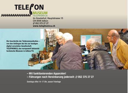 Inserat Telefonmuseum