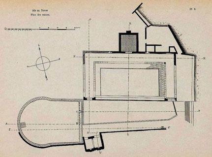 Khemissa (Thubursicu Numidarum) : Plan du nymphée