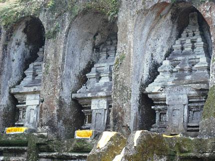 De indrukwekkende tempel van Gunung Kawi ten noorden van Ubud