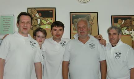 Stefan (links), Yvonne, Goran, Helmut, Heinz