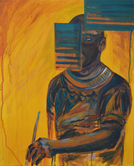 Ancient Egyptian II (60cm by 40cm) 2014 Acrylic on Canvas.