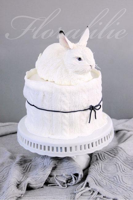Schneehasen-Torte | Floralilie