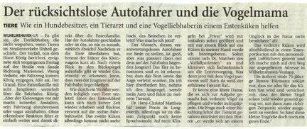 Artikel der Wilhelmshavener Zeitung v. 26.6.2013