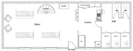 Plan du rez de chaussée de la Bergerie