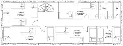 La Bergerie plan du 1er étage