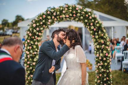 Wedding Videographer in South Italy, Wedding Videographer in Salerno, Wedding Videographer in Cilento, Outdoor Civil Wedding, Romantic Wedding, Wedding Video, Wedding Film
