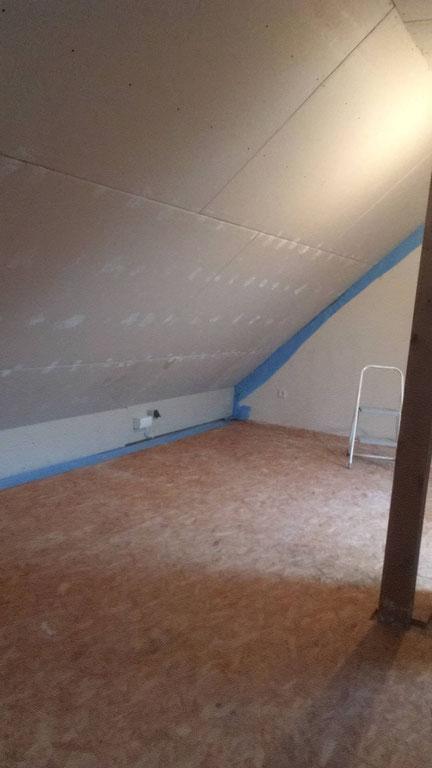 Dachboden-Baustelle