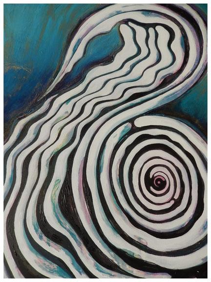 o.T., Acrylfarbe auf Keilrahmen, 70x100cm, 2013