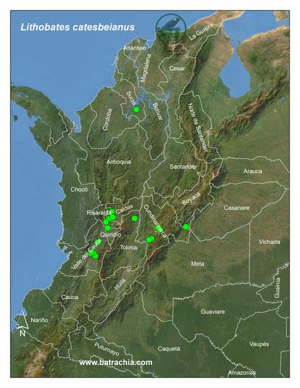 Mapa distribución actual en Colombia