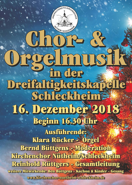 Plakat Kirchenchor-Konzert Advent 2018