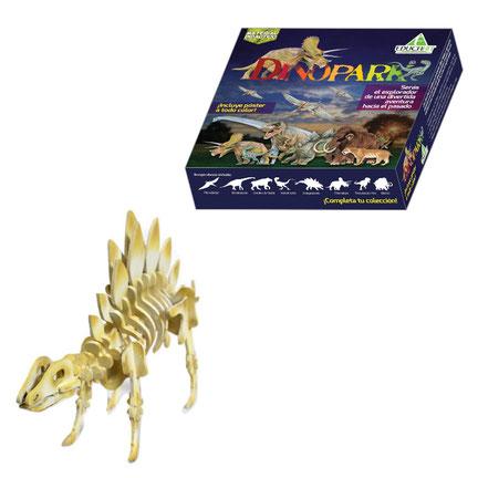 Rompecabezas 3d stegosaurus de madera