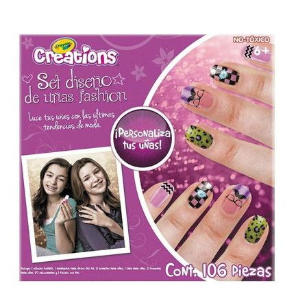 Set diseño de uñas fashion de crayola