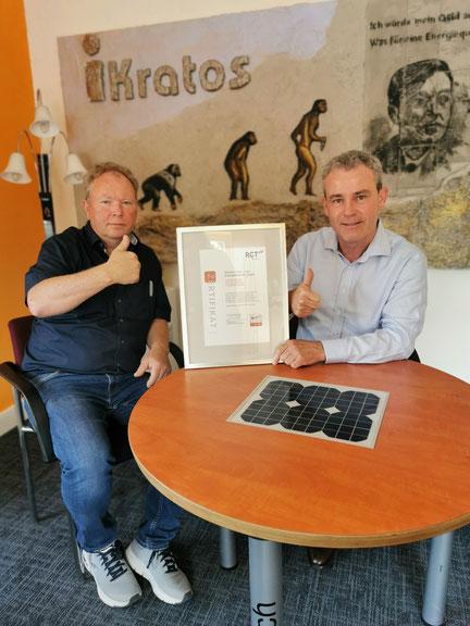 iKratos Geschäftsführer Willi Harhammer und Thomas Himmel Business Development RCT Power © iKratos