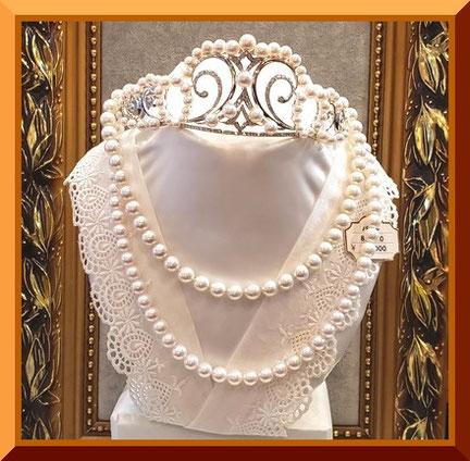 真珠のネックレスの糸替え