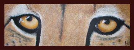 CHEETAH SHANI 90 x 40 cm, Acryl (verkauft)