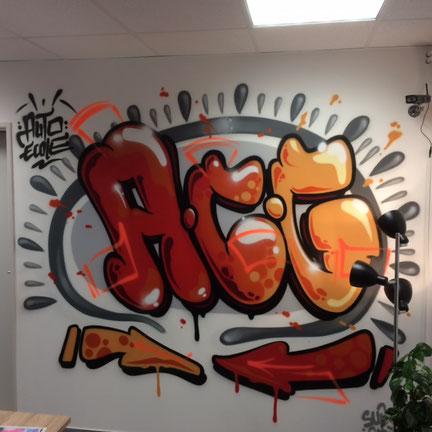 Nouvelle fresque dans le bureau d'accueil