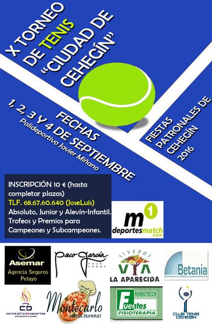 Tenis y Pádel en Cehegín.