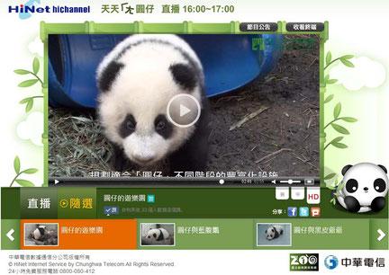 画像をクリックすると台湾市立動物園のサイトで動画が見られるよ♪