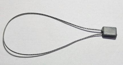 Marchamos Textiles Metalizados color PLATA - Ref. 007A17S - MCC TAGGING, S.L.