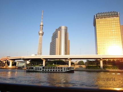 2012年6月 隅田川の夕方