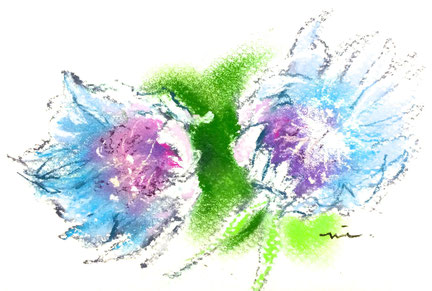 パステル画教室 パステル画 パステル 花の絵 花 カルチャー