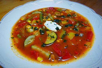 Gemüsesoljanka, vegan oder vegetarisch, basisch, gluteinfrei
