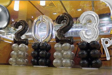 Deko Dekoration Party Feier Silvester Neujahr Ballon Luftballon Zahlen Jahreszahl Folienzahl Folienballon 2020 Jahreswechsel