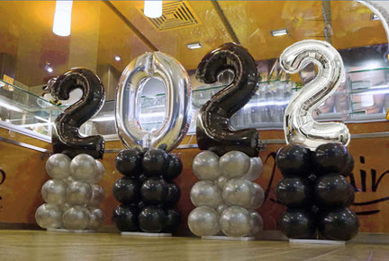 Deko Dekoration Party Feier Silvester Neujahr Ballon Luftballon Zahlen Jahreszahl Folienzahl Folienballon 2021 Jahreswechsel