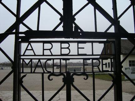 """Gate """"Arbeit macht frei"""""""
