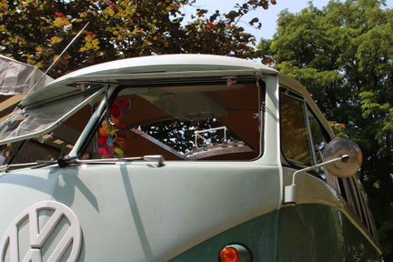VW Bus T1 mit Campingausbau, Auto, Oldtimer, car, Automobil