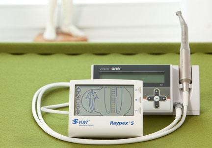 Raypex Messinstrument und Wave one Aufbereitungsgerät