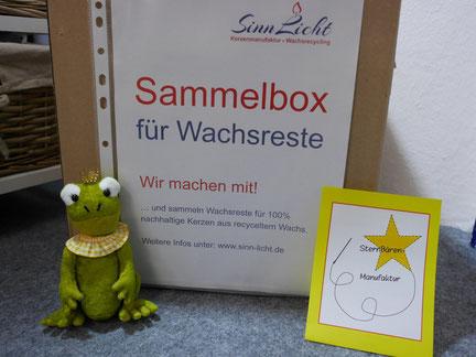 SinnLicht - Sammelbox für Wachsreste. Wachs-Recycling in Karlsruhe Durlach