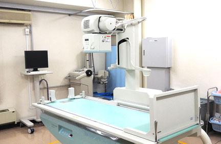 X線撮影室内