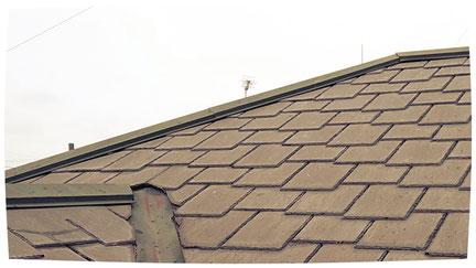 さいたま市岩槻区の戸建住宅、屋根塗装工事前の写真