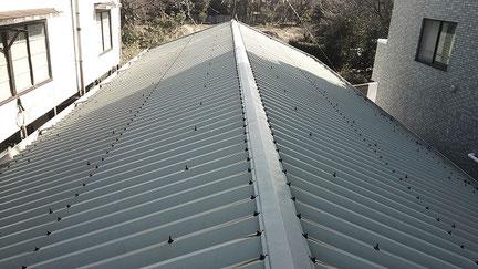 松戸市の、屋根塗装工事前の写真
