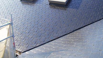 宮代町の戸建住宅、屋根塗装工事完了の写真