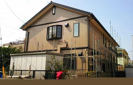 さいたま市中央区の戸建住宅、外壁塗装工事完了の写真