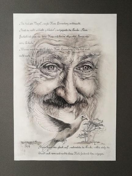sam wolf_zeichnung_von simone müller_zur kurzen Erzählung_das ästchen